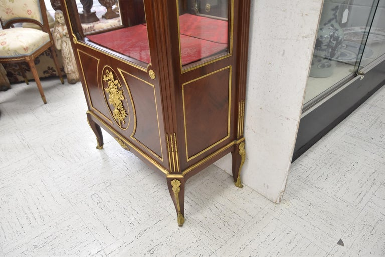 Louis XVI Very Fine 19th Century French Viewing Vitrine Attributed to F. Linke For Sale