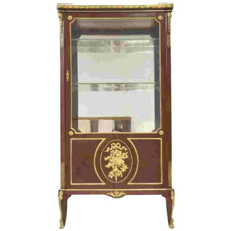 Very Fine 19th Century French Viewing Vitrine Attributed to F. Linke For Sale