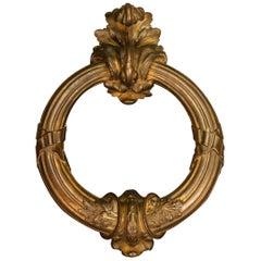 Very Fine and Decorative Gilt Bronze Door Knocker
