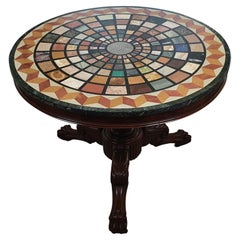 Very Fine and Rare 19th Century Specimen Marble Top Centre Table