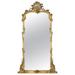 Very Fine Carved Giltwood Mirror, circa 1860