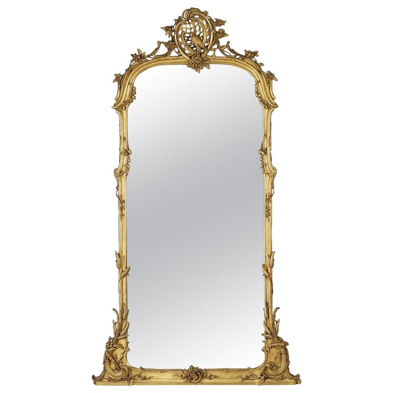 Very Fine Carved Giltwood Mirror, circa 1860 For Sale
