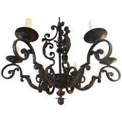 Very Fine and Elegant Iron Chandelier