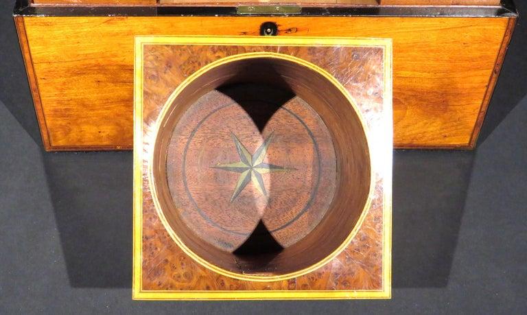 A Very Fine George III Inlaid Satinwood Tea Caddy, England Circa 1800   For Sale 3