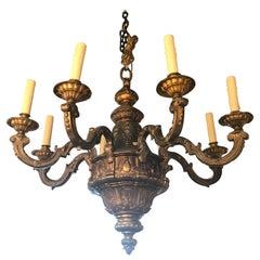 Very Fine Gilt Bronze Regence Style Chandelier