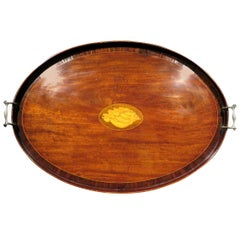 Very Fine & Large Georgian Mahogany Serving Tray, England Circa 1820