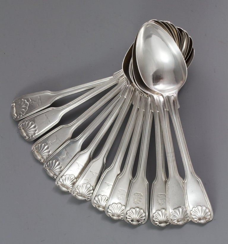 A Paul Storr Silver 12 Place Canteen For Sale 13