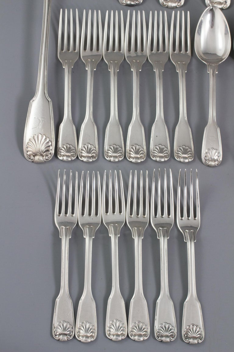 English A Paul Storr Silver 12 Place Canteen For Sale