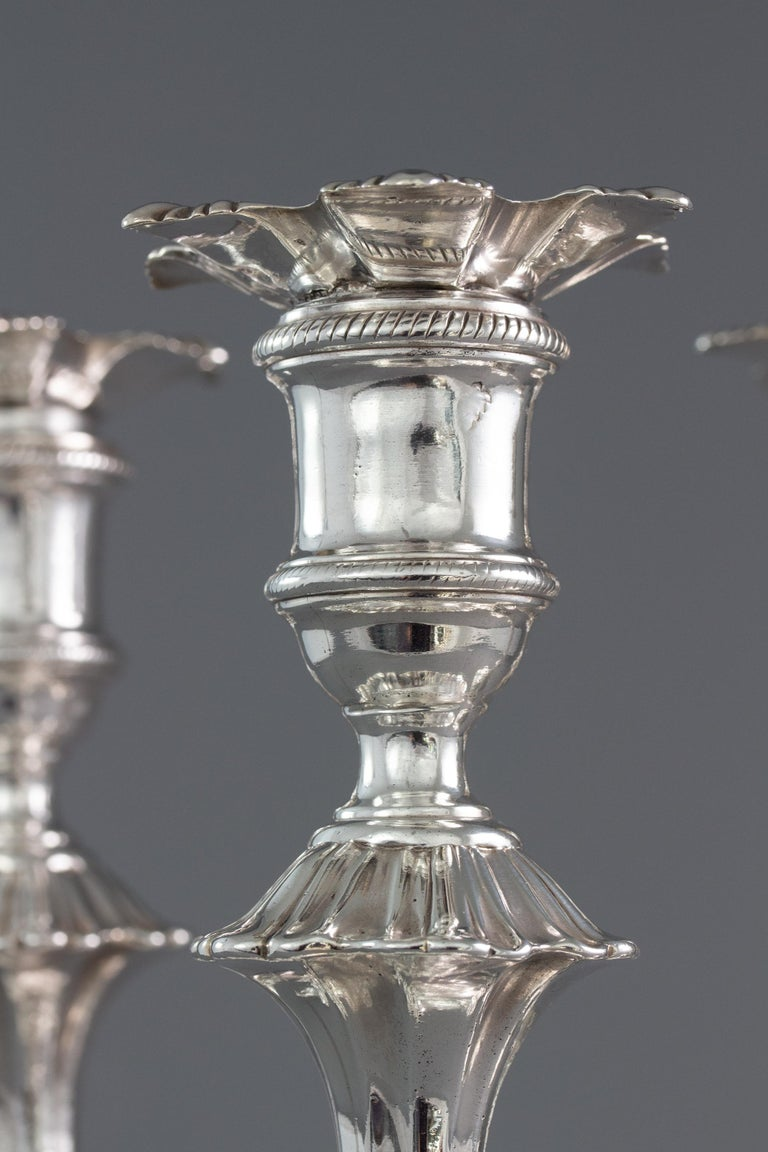 Very Fine Set of Four Georgian Silver Table Candlesticks, London, 1753 For Sale 2