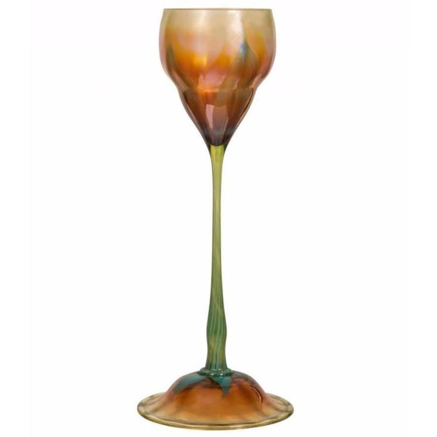 Very Fine Tiffany, Favrile Glass Floriform Vase Tiffany Studios
