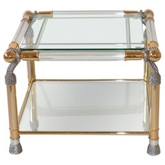Very Glamorous Lucite Hollywood Regency Style Coffee Table