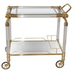 Very Glamorous Lucite Hollywood Regency Style Drinks Trolley