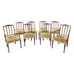 Very Good and Original Set of 8 '6+2' George III Period Dining Chairs