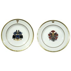 Very Good Pair of 19th Century German Porcelain Cabinet Plates, Dated Bonn 1853