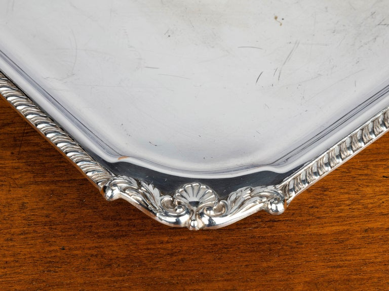 European Very Good Quality, Victorian, Sheffield Plated, Square Waiter For Sale
