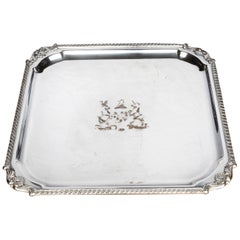 Very Good Quality, Victorian, Sheffield Plated, Square Waiter