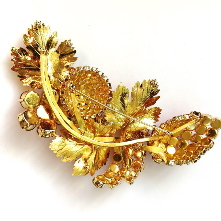 3cc6bc52b This is a very large, exuberant and joyful brooch, set with top quality  pastes