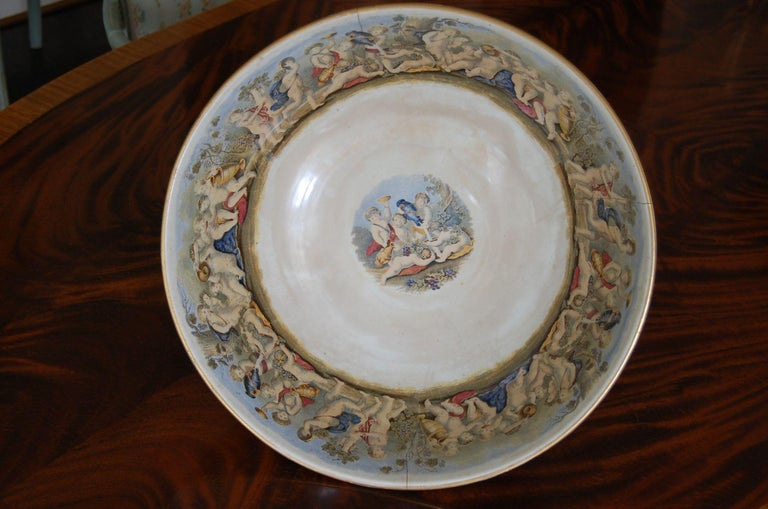 Very Large Gildea & Walker Staffordshire Pottery Punch Bowl, circa 1885 For Sale 2