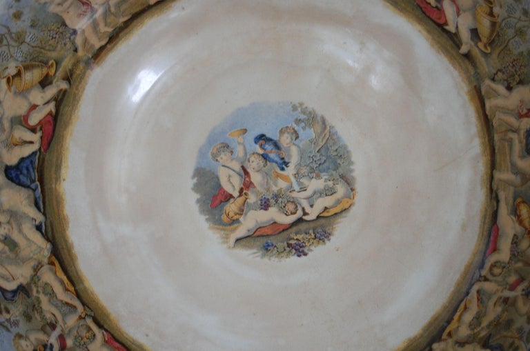 Very Large Gildea & Walker Staffordshire Pottery Punch Bowl, circa 1885 For Sale 3