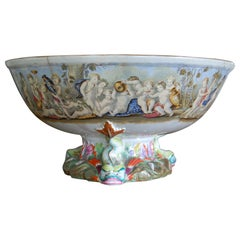 Very Large Gildea & Walker Staffordshire Pottery Punch Bowl, circa 1885