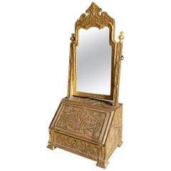 Very Rare Carved Gilt Gesso Dressing Mirror, circa 1710-1720