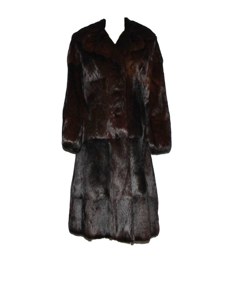Black A very rare Gucci by Tom Ford Fall 2004 Eggplant Fur Coat Final Collection Gucci For Sale