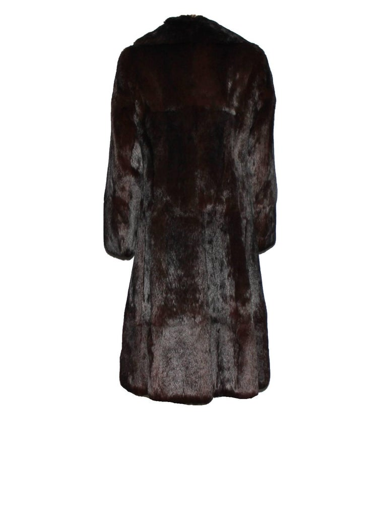 Women's or Men's A very rare Gucci by Tom Ford Fall 2004 Eggplant Fur Coat Final Collection Gucci For Sale