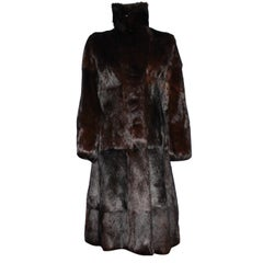 A very rare Gucci by Tom Ford Fall 2004 Eggplant Fur Coat Final Collection Gucci