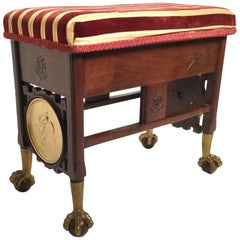 A Victorian Aesthetic Movement Lit Top Bench