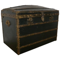 Victorian Canvas Dome Top Traveling Trunk