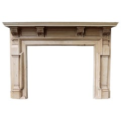 Victorian Carved Pine Fire Surround