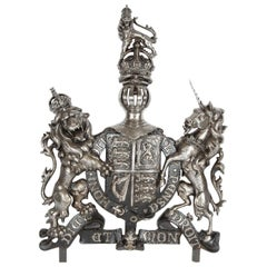 Victorian Cast Iron Royal Coat of Arms of the United Kingdom, circa 1870