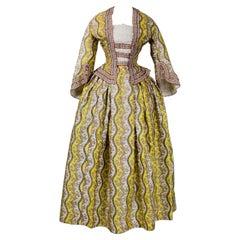 A Victorian French Printed Silk Dress - Provence Circa 1850