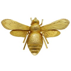 Victorian Gold Bee Brooch