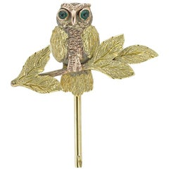 Victorian Gold Owl Stick-Pin