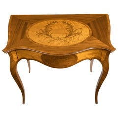 Victorian Inlaid Satinwood and Kingwood Table in the Style of Hepplewhite