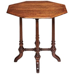 Victorian Oak Hexagonal Occasional Table in the Manner of Gillows