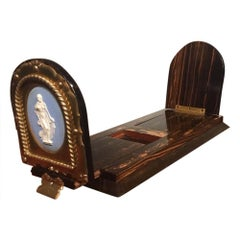 Victorian Period Coromandel and Brass Book-Slide