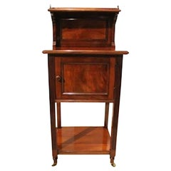 Victorian Period Mahogany Antique Bedside Cabinet by Holland & Sons