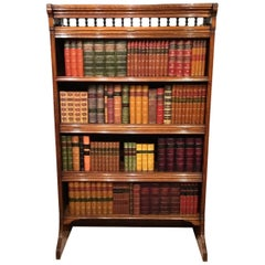 Victorian Period Oak Gothic Revival Open Bookcase