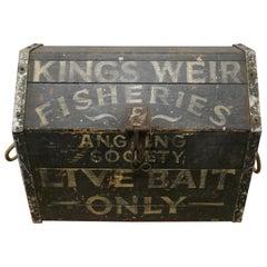 Victorian Pine Fishing Bait Box