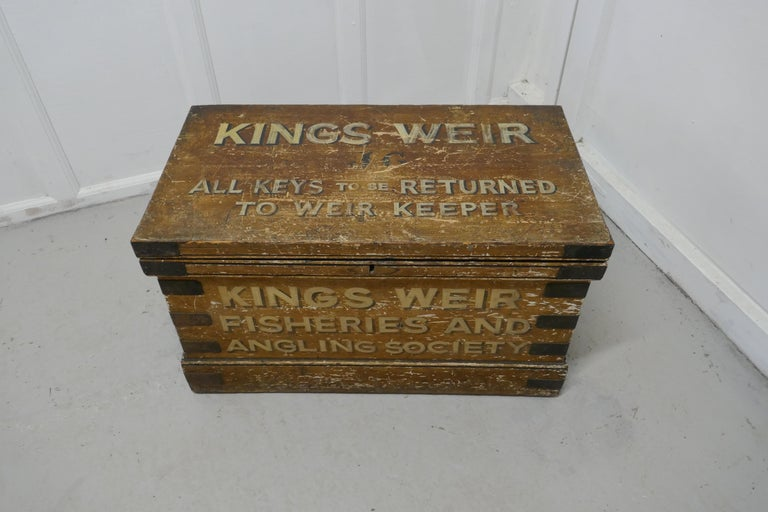 Victorian Pine Newham and Son's Fishermans Chest For Sale 2