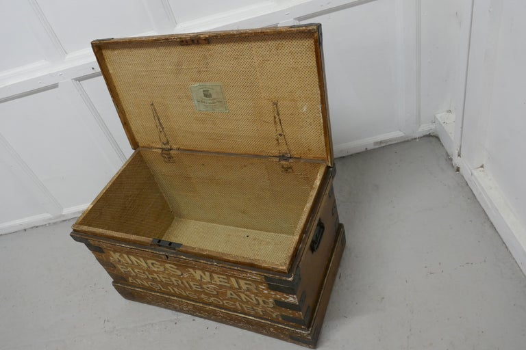 Victorian Pine Newham and Son's Fishermans Chest For Sale 3