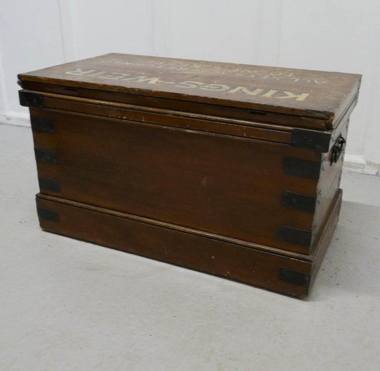 Victorian Pine Newham and Son's Fishermans Chest For Sale 4