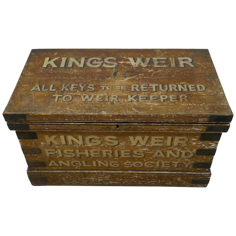 Victorian Pine Newham and Son's Fishermans Chest For Sale