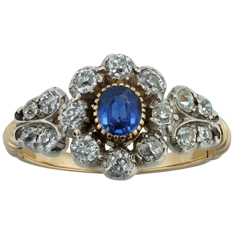 Victorian Sapphire and Diamond Ring