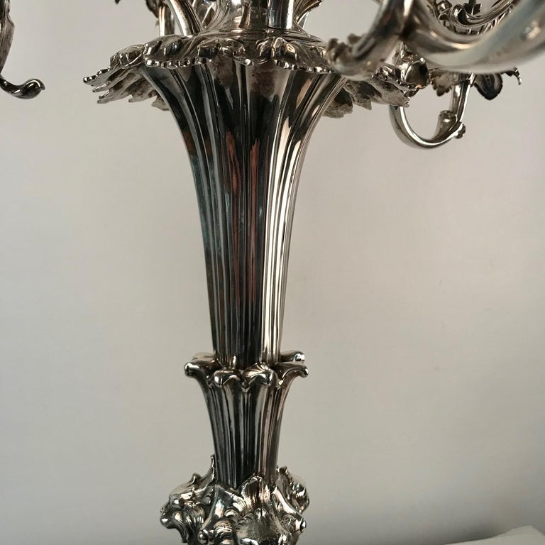 Victorian Silvered Bronze Centrepiece/ Epergne For Sale 7