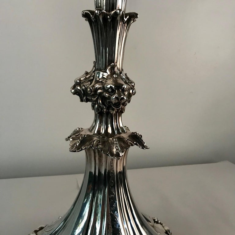 Victorian Silvered Bronze Centrepiece/ Epergne For Sale 8