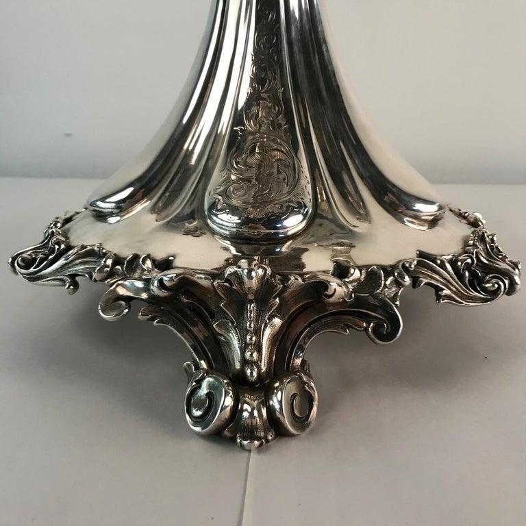 Victorian Silvered Bronze Centrepiece/ Epergne For Sale 10