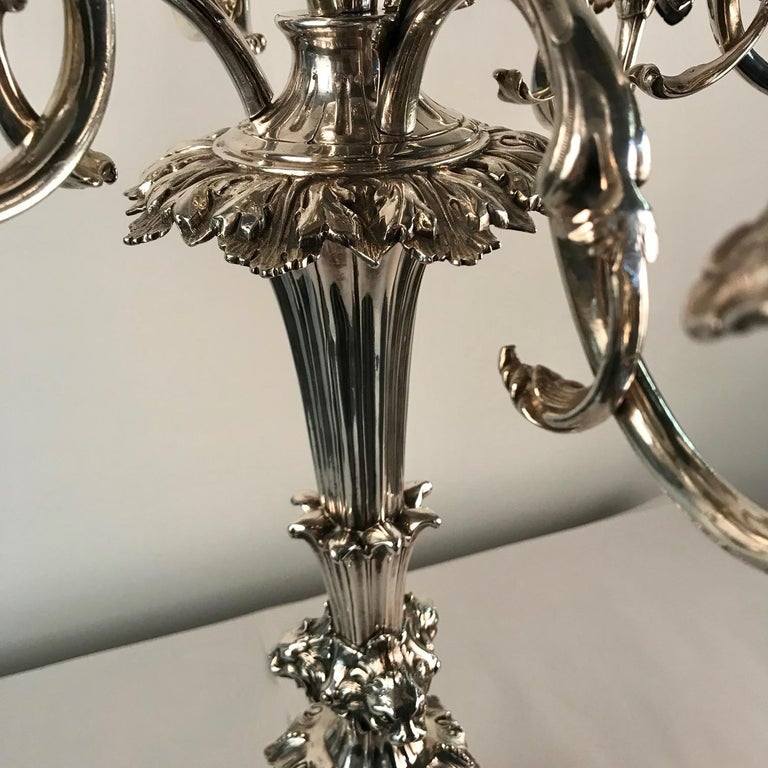 Victorian Silvered Bronze Centrepiece/ Epergne For Sale 12